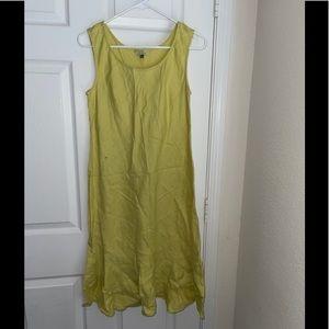 Chalet linen sleeveless dress